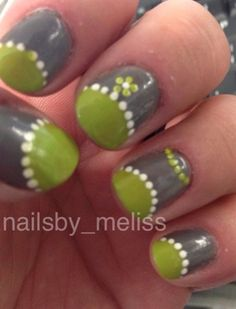 lime greey by nailsby_meliss - Nail Art Gallery nailartgallery.nailsmag.com by Nails Magazine www.nailsmag.com #nailart