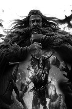 Vikings, One Life Tattoo, Viking Hall, Viking Warrior Tattoos, Viking Character, Dark Art Tattoo, World Of Warriors, Mythology Tattoos, Bear Tattoos