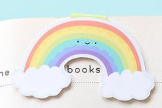 Rainbow Magnetic Bookmark Jumbo by craftedvan on Etsy