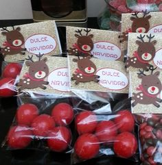 Rudolph treats at a Christmas party!  See more party ideas at CatchMyParty.com!  #partyideas #christmas
