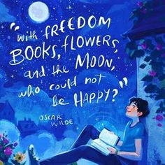 So true.  #freedom #lovelife #books #bookstagram #booklove #moon #stars #happy #happiness #flowers #creativehappylife