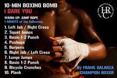 10-Min BOXING BOMB - NYHRC Workout - Fitness