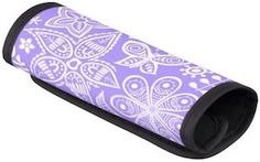 Purple Handle Wrap With Flowers