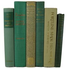 Green Tan Decorative Books Green Vintage Books Home Decor Old Books... ($38) ❤ liked on Polyvore featuring home, home decor, vintage home accessories, vintage home decor, green home decor and green home accessories
