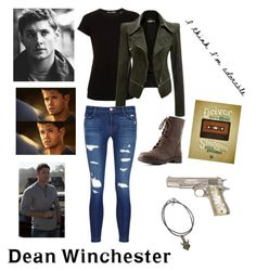 """""""Dean winchester"""" by washingtonjd260 on Polyvore featuring Vince, J Brand and Charlotte Russe"""