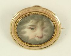 mourning ring - child's eye miniature