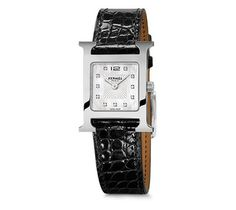 Hermes H Hour (PM) Diamond Watch with Black Alligator leather bands. Get the lowest price on Hermes H Hour (PM) Diamond Watch with Black Alligator leather bands and other fabulous designer clothing and accessories! Shop Tradesy now