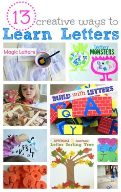 good to do when baby comes / prepare ahead****best post i've seen so far on fun PLAY ways to learn letters. this lady focuses a lot on not drilling your younger kids with their learning, but rather letting them learn through play. *****