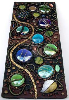 Tall Mosaic tile polymer clay by *MandarinMoon on deviantART    I LOVE Mandarin Moon