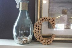 wine cork projects--wine cork monogram letter