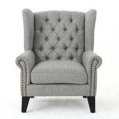 Alcott Hill Golf Club Chair Upholstery: Gray