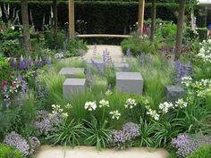 Flower Show 2014 Chelsea Flower Show 2014 Modern Garden Design, Contemporary Garden, Garden Landscape Design, Townhouse Garden, Chelsea Garden, Sensory Garden, Sloped Garden, Purple Garden, Flower Shower