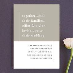 """""""Evermore"""" - Customizable Wedding Invitations in Orange by carly reed walker. Modern Wedding Invitations, Wedding Stationery, Weddingideas, Mint, Stone, Paper, Artist, Peppermint, Artists"""