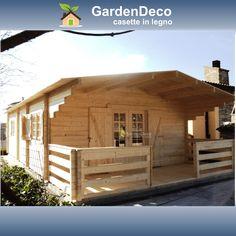 Casetta 50mq veranda legno 44 mm 3 stanze e soppalco