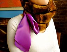 Sunday Crafts: Faux Fur and Satin Neckwarmer (Part One) | Stripes & Sequins