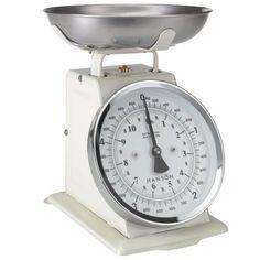 Hanson H500 Traditional Mechanical Kitchen Scale - Cream