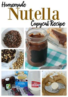Homemade Nutella Copycat Recipe ~ DivineLifestyle.com ~ cake frosting desserts bars sugar chocolate
