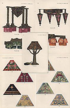 W.b. Brown Catalogs Wooden Fixture Lamp Arts And Crafts Mission Style Lighting &