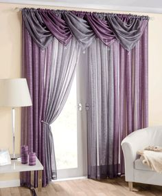 Hamptons Glitz 9 Piece Set Voile Read Made Curtains Set Grey Curtains Bedroom, Living Room Drapes, Home Curtains, Living Room Modern, Home Living Room, Living Room Decor, Elegant Curtains, Beautiful Curtains, Window Curtain Designs