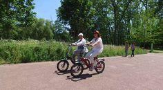 balade en vélo électrique pliant VEPLI avec le modèle Folky