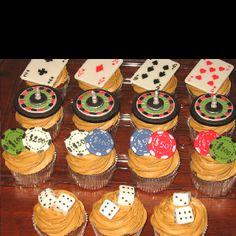 Poker Las Vegas Theme Cupcakes tortas y otros destacadas