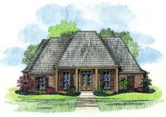 Hammond - Louisiana House Plans Country French Home Plans