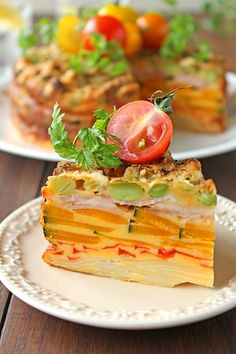 """""""Gato invisible of unsweetened vegetables"""" Pork Recipes, Cooking Recipes, Fancy Dishes, Healthy Menu, Food Decoration, Cafe Food, Molecular Gastronomy, Aesthetic Food, Food Presentation"""