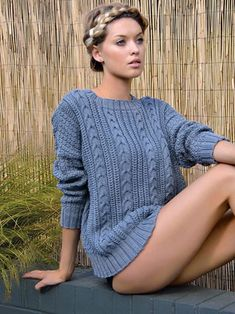 Tide generous sweater from Echoes by Kim Hargreaves - TWENTY ONE DESIGNS using yarns Yarns: Summerlite 4ply, Panama, Kidsilk Haze, Mohair Haze, Handknit Cotton, Original Denim, Creative Line, Cotton Lustre, All Seasons Cotton from Rowan | English Yarns