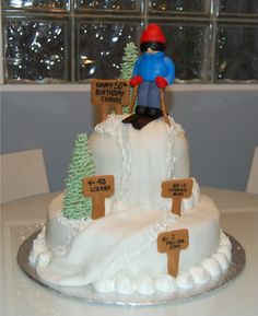 Downhill Ski Cake Photo: This Photo was uploaded by sandyctaylor. Find other Downhill Ski Cake pictures and photos or upload your own with Photobucket f...