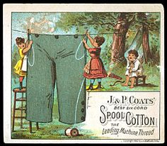 J & P COATS SPOOL COTTON