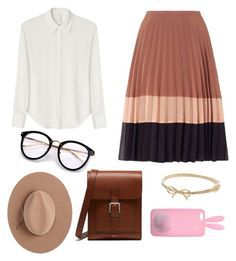 """""""Warm neutrals"""" by jocelyn-gowans on Polyvore featuring Miss Selfridge, David Michael, Mulberry, Calypso Private Label and Kate Spade"""