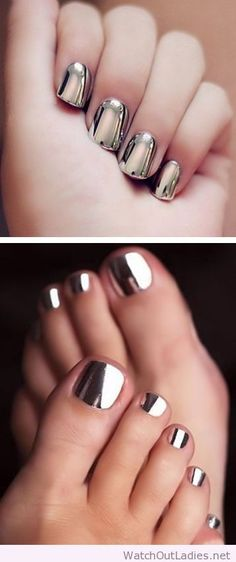 Mirrored nail art design