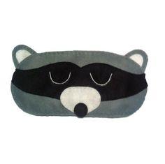 Racoon eye mask Racoon sleep mask animal sleep mask by NipNopsUK