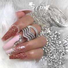 9fe6b9da9e6a Beautiful nails by  misslaladoll 💅💅💅 Shop for featured rose gold glitter  dust