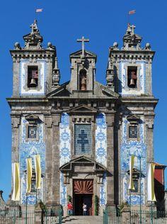 Igreja de Santo Ildefonso, Oporto, Portugal ~ Rebuilt between 1730-35
