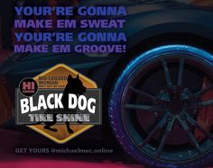 New #instagram #facebook #twitter ad for my fictitious tire shine company #blackdog. A reference to the amazing #led zeppelin  #design #branding