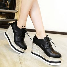 Pantofi oxford dama cu platforma si talpa ortopedica Stella Mccartney Elyse, Footwear, Wedges, Giuseppe Zanotti, Shoes, Casual, Fashion, Women's, Moda