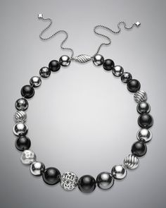 """DY Elements Necklace, Black Onyx, 16"""" by David Yurman at Neiman Marcus."""
