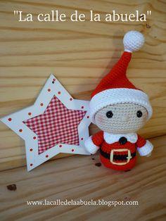 "Street grandmother: ""TELMO"" little helper Santa Claus Love Crochet, Crochet Gifts, Diy Crochet, Crochet Toys, Christmas Crafts, Christmas Decorations, Christmas Ornaments, Holiday Decor, Toys For Tots"