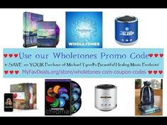 Wholetones Promo Code | Save on Wholetones Healing Frequency Music now! I don't know how long these coupons will be good for, but if Michael Tyrrell adds a new or different one, I'll update it at the site. I bought Wholetones a couple of years ago and listen to the tracks nearly every day when I'm working. He truly is an inspired musician.
