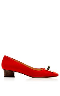 Shop Kiss Me Quick Suede Pump by Charlotte Olympia Now Available on Moda Operandi