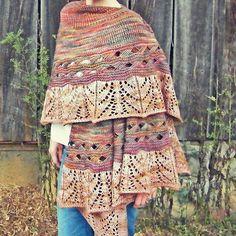 Canyons at Sunset pattern by Sweet Birch Designs | malabrigo twist in Liquidambar and Applewood