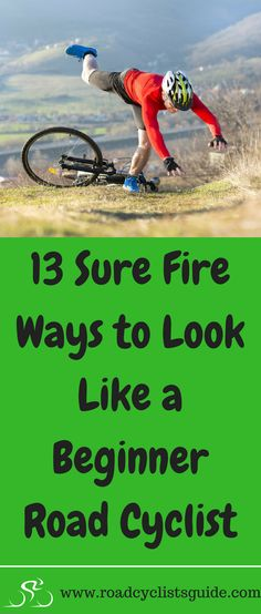 how to look like a beginner road cyclist