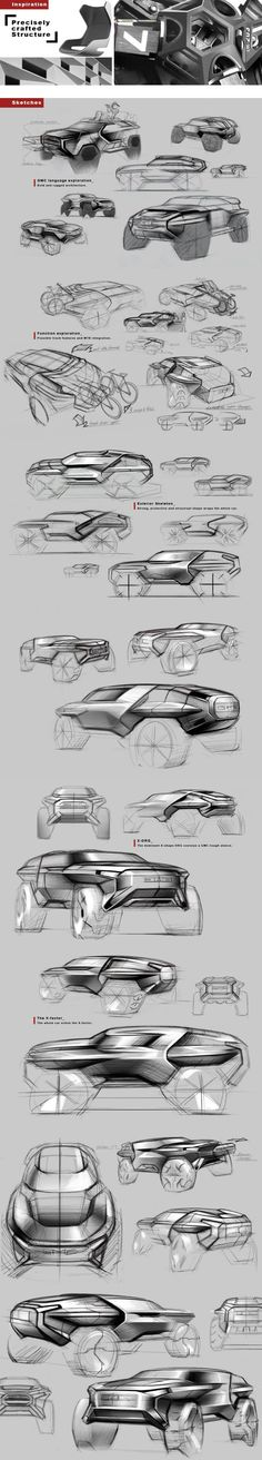 car sketches: