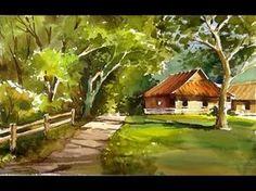 """Scheewe Art Workshop - 109 - """"Garden Gate"""" Watercolor Painting - YouTube"""