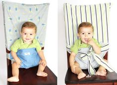 tie chair to keep toddlers in place. possible diy?
