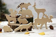 Waldorf Animal toys, Forest animals, Wooden animals, Wooden toys, Montessori toys, Montessori set, Play set, Safe toy, Puzzle toy, Eco gift ~~~~~~~~~~~~~~~~~~~~~~~~~~~~~~~~~~~~~~~~~~~~~~~~~~~~~~~~~~~~~~~~~~~~~~~~~~~~~~~~~~~~~~~~~~~~~~~~~~~~~ Wooden forest animals - is a great