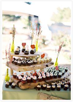 DIY tiered wooden cupcake display