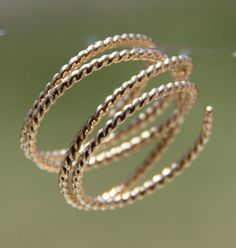 Twisted Gold Open Wrap Ring by thistlehouse3 on Etsy