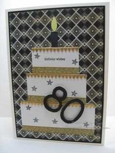 80th Birthday Card by SoSherry - Cards and Paper Crafts at Splitcoaststampers